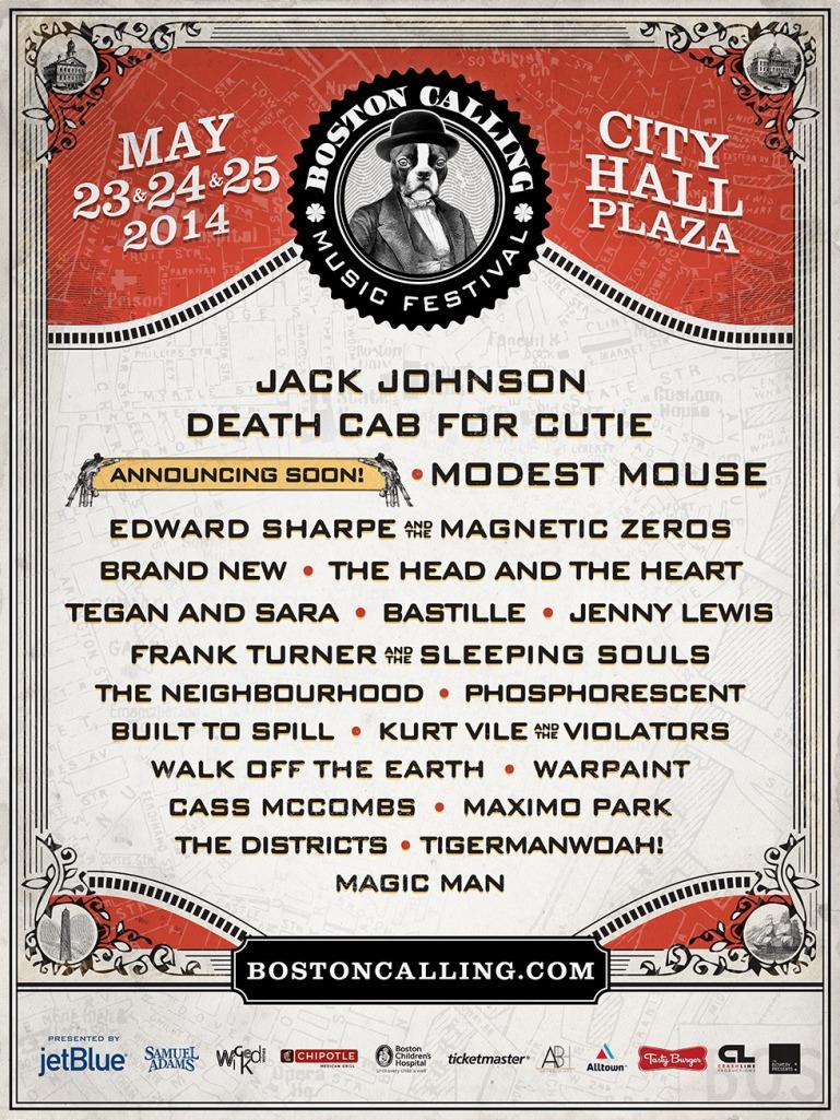 Boston Calling May 2014 lineup